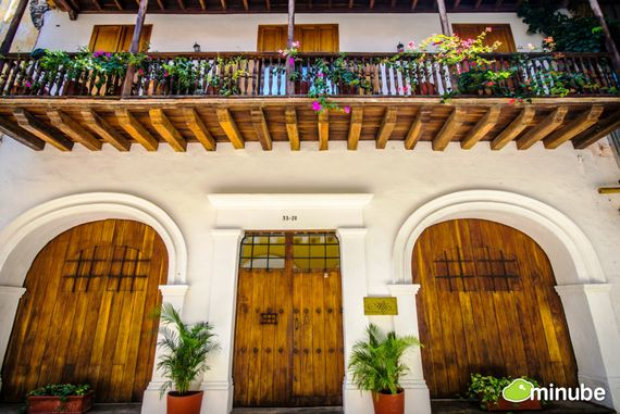"""The Huffington Post shows picture from Alfiz Hotel representing Cartagena in the post """"50 cities to see in your lifetime"""""""