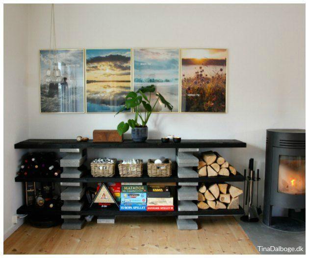 Fundablokke; byg en anderledes rå reol. Et udekøkken eller plantebord ?