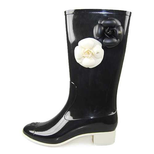 Chanel Camellia Flower Rain Boot Clothes Jewels Shoes