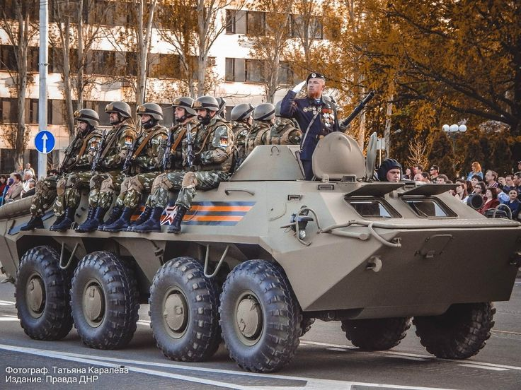 Yesterday in Donetsk held a dress rehearsal parade, timed to the forthcoming celebration of the 70th anniversary of the Victory over the fascist invaders. The event was attended by Minister of Defense of the People's Republic Donetsk Vladimir Kononov and commanders of various military units proven in heavy fighting brave warriors and fearless defenders of their homeland.