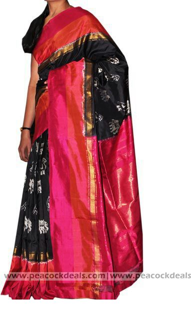 Pochampally Ikat Silk Saree-PIS137 :http://www.peacockdeals.com/product/pochampally-ikat-silk-saree-pis137/