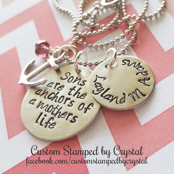 Sons are the Anchors of a Mother's Life Follow me on Facebook & Instagram!  SweetSouthernStamped  Shop me Designs-  Check out this item in my Etsy shop https://www.etsy.com/listing/221391009/sale-sons-are-the-anchor-of-a-mother