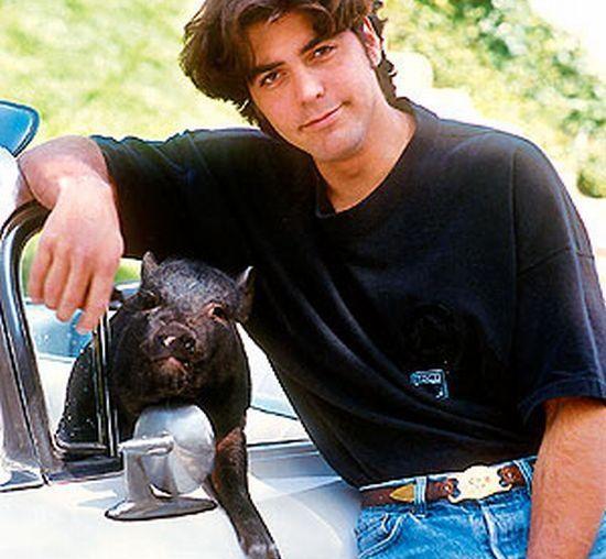 George Clooney with hi...