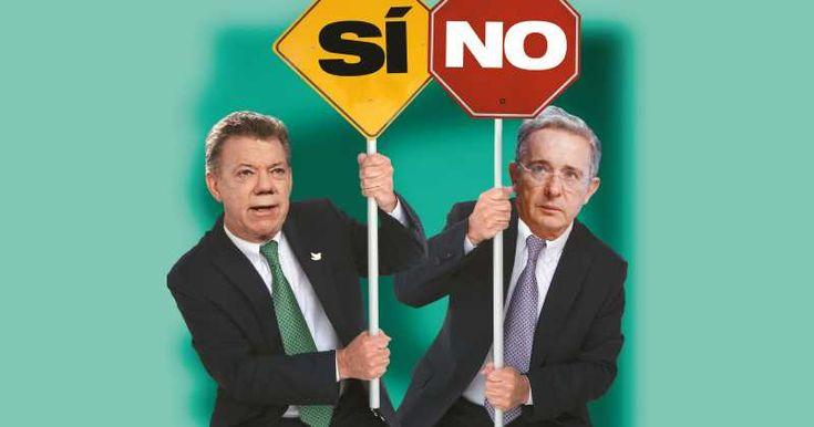 Juan Manuel Santos y Álvaro Uribe Veléz.