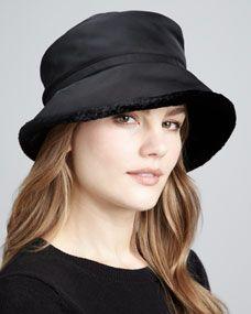Faux-Fur-Lined Hat
