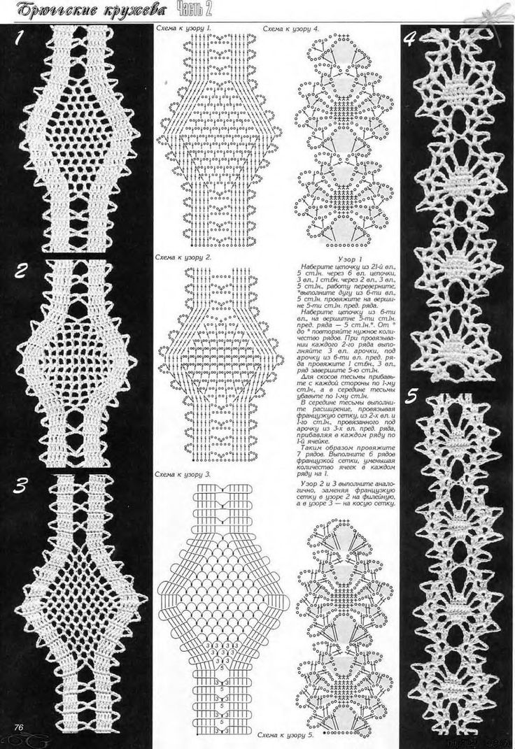 crochet tapes - bruges lace