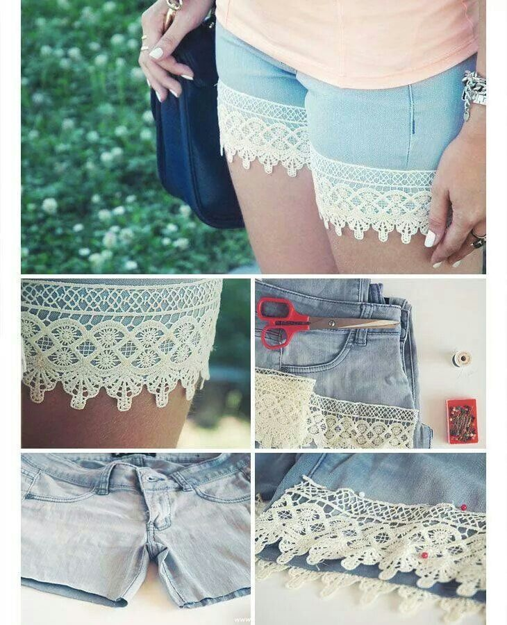 Cute lace shorts