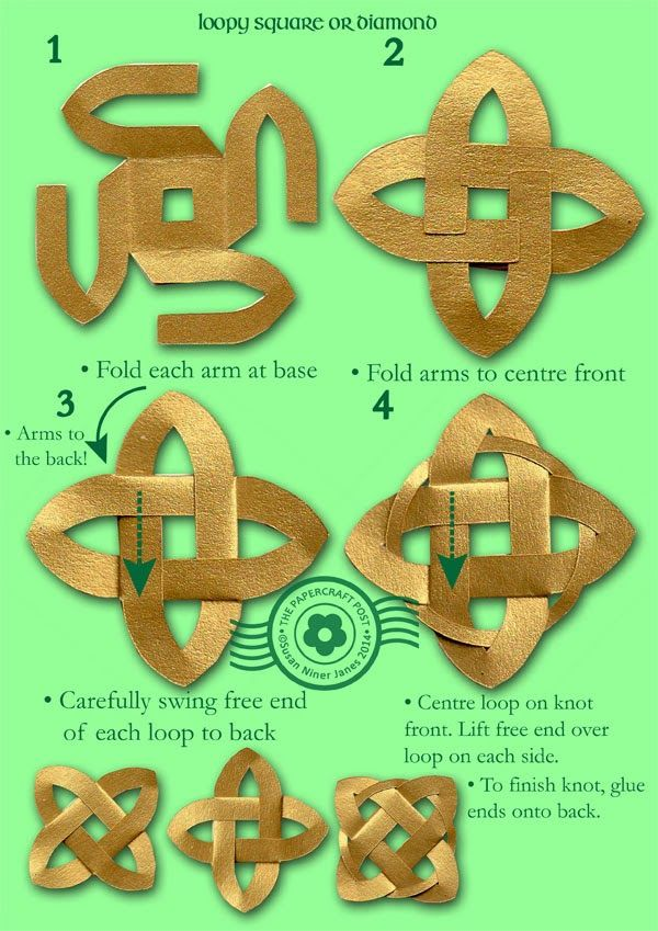 The Papercraft Post: Foldable Celtic Knot Embellishments