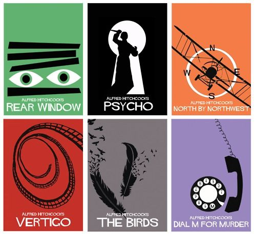 The Hitchcock Collection by Adam Armstrong  http://minimalmovieposters.tumblr.com/post/23125058619/the-hitchcock-collection-by-adam-armstrong