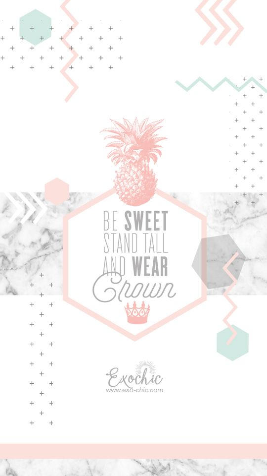 FOND ECRAN FREE PRINTABLE OCTOBRE : Be SWEET, Stand TALL and Wear CROWN
