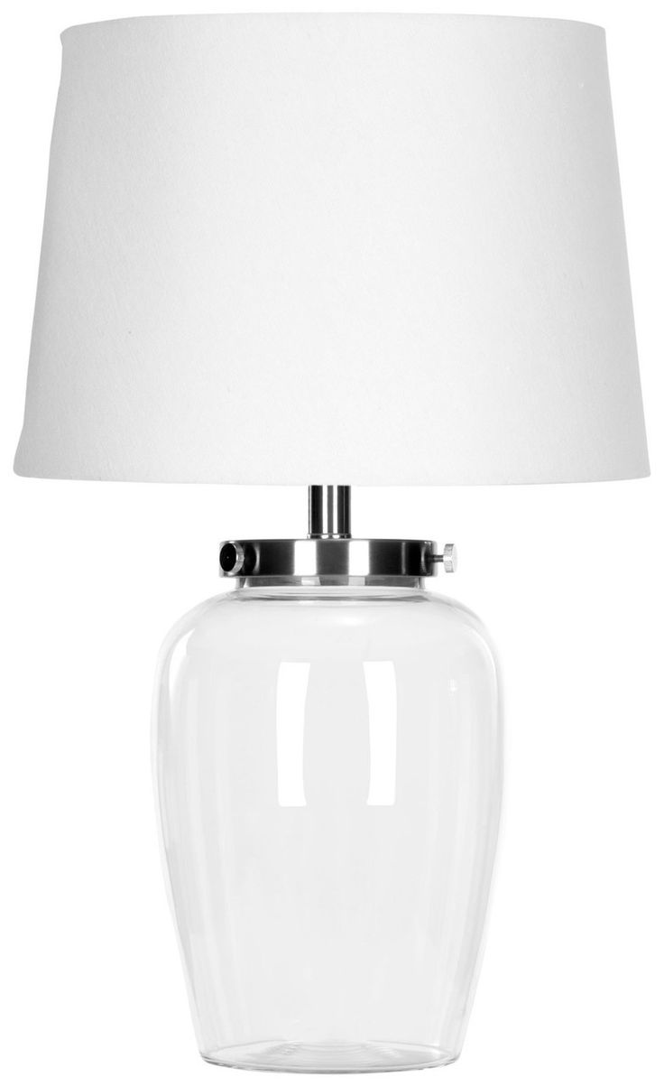 Pottery barn clift glass lamp ebay - Evan 22 5 Inch Clear Glass Table Lamp Lit4066a