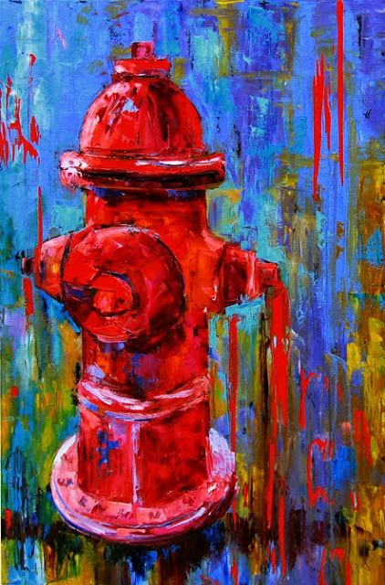 Quot A Dog S Best Friend Quot Abstract Fire Hydrant Large Colorful