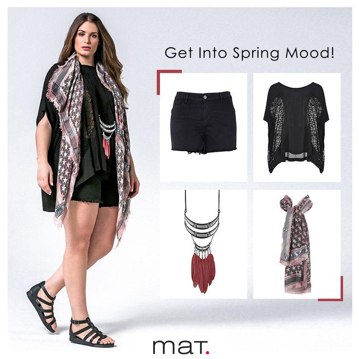 Δημιούργησε το πιο cool ανοιξιάτικο mix'n'match look με μια ασύμμετρη μπλούζα με θηλυκή διαφάνεια και ένα trendy τζιν σορτς! Τα boho αξεσουάρ θα δώσουν όσο χρώμα χρειάζεται το σύνολο! Αγόρασε την μπλούζα ➲ code: 671.1228 Αγόρασε το σορτς ➲ code: 673.2032 Αγόρασε το κολιέ ➲ code: 679.9028.Ν Αγόρασε το φουλάρι ➲ code: 679.9038.N #matfashion #ootd #ss17 #realsize #collection #streetstyle #fashion #inspiration #plussizefashion #fashionista #psblogger #lookoftheday
