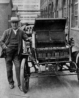Thomas Edison and an electric car 100 years ago