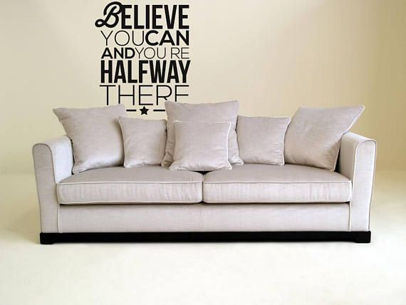 "Motivational Vinyl Decal - Believe you can and you are half way there...    Price : 10.50 EURO ( S&H if applicable)  ... HashTags : #brutalvisual #brutalvisualstudio #handmade #custom #etsy #customdesigns #brutal #wall #silhouette #decor #mural #believe #faith #believeinyourself #words #Believeyoucan #walldecor #DiecutVinyl #Motivationaldecal #walldecal  Believe you can and you are half way there... can't argue with this one.. can you? It's not ""starting"" something that is hard to do... the…"