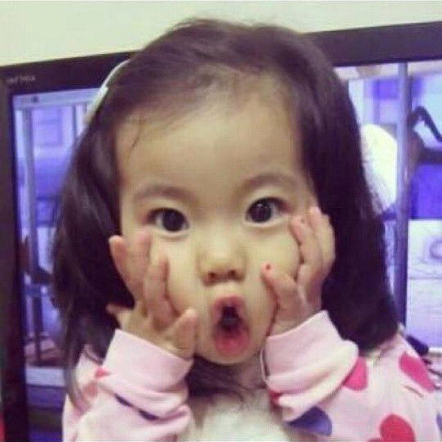 Yebin in cute expression | Family and Baby photos ...