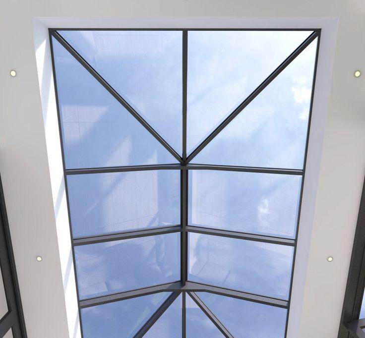 slim profile - ultra slim roof lantern - for further information www.4seasononline.co.uk
