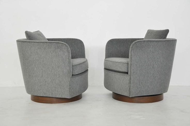 Milo Baughman Swivel Lounge Chairs | From a unique collection of antique and modern swivel chairs at http://www.1stdibs.com/furniture/seating/swivel-chairs/