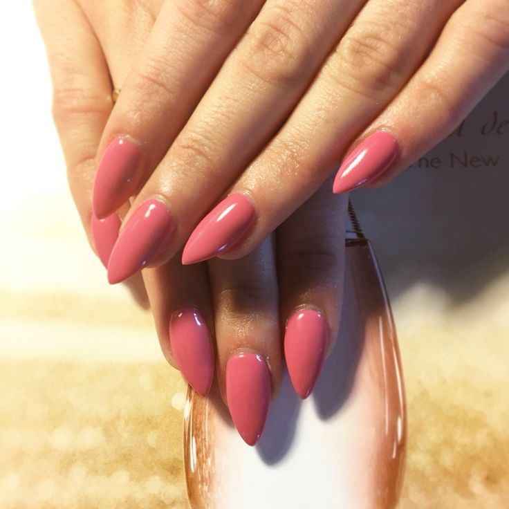 @semilac gel polish in #PinkRose nr 064 on @Lalafuu (IG bossydemon) done by me · RealAguss