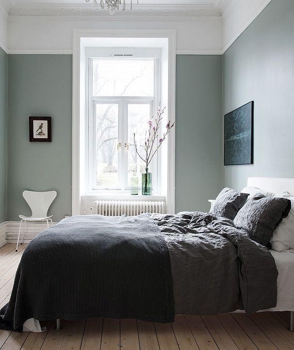 Image Result For Sage Green And Grey Bedroom Bedroom Interior Bedroom Green Home