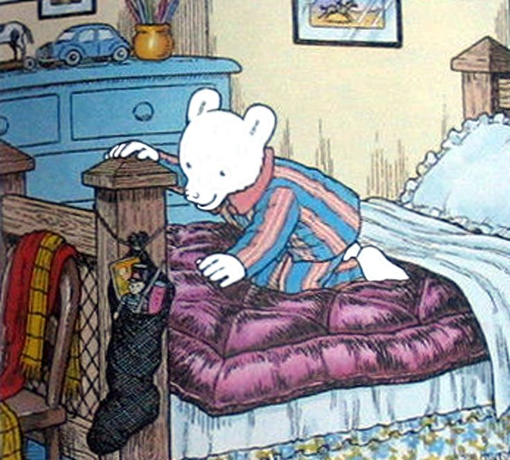 Rupert Bear Christmas day