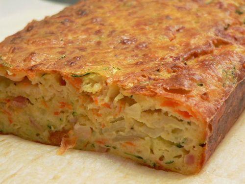 Zucchini slice savory