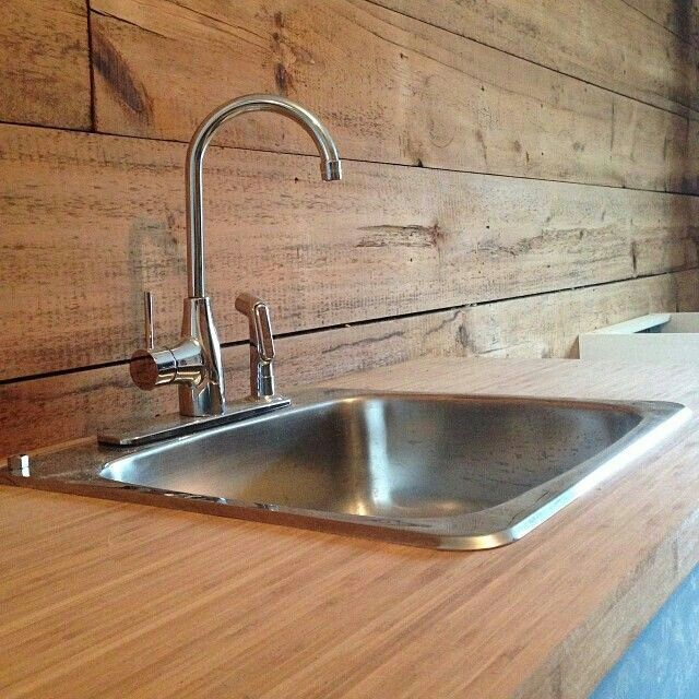 wood back splash barn wood ideas pinterest