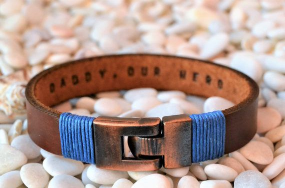 EXPRESS SHIPPING Custom Engraved Bracelet For Men, Leather bracelet,Personalized Mens Jewelry,Mens bracelet,Gifts for men Gift for Boyfriend