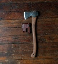 The Sitka X Gransfors Axe is Sitka's staple collaboration with Sweden's Gransfors Bruk Axes. This small forest axe has a hand-forged steel blade and hickory handle. The blade is thin and the handle is long enough to allow powerful chopping, yet the perfect size to fit in a rucksack, the back of a car or a boat. It is practical for splitting small sticks for the fire or cutting small diameter limbwood for starter fuel in a fireplace. Each axe comes with a custom Sitka embossed leather sheath.