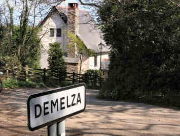 "Demelza - a hamlet in the parish of St Wenn, Cornwall. The name means ""fort on top of a hill"" or ""Maelda's fort""  (wikipedia). Winston Graham thought it would be the perfect name for a female character in his saga. [NOTE: this pin will eventually be moved higher up the board.]"