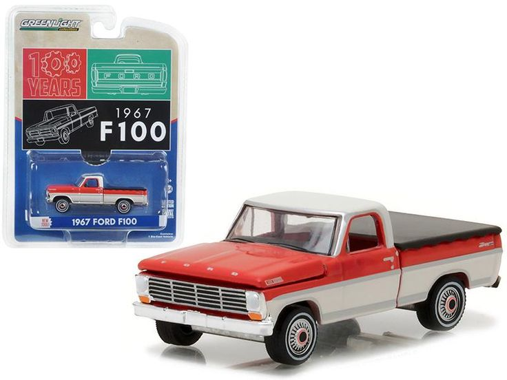 1967 Ford F-100 Pickup Truck with Bed Cover Hobby Exclusive 1/64 Diecast Model Car by Greenlight