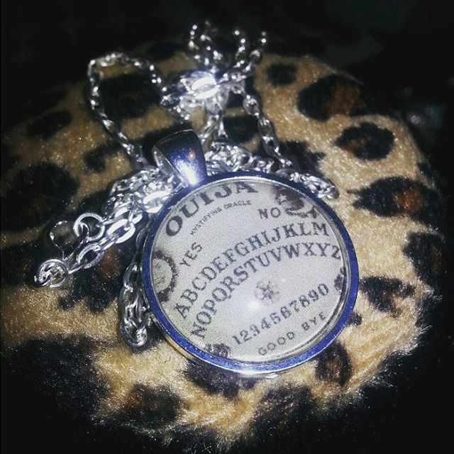 #Ouijaboard necklaces now only $9.06! #etsy #roadkilljill #horror