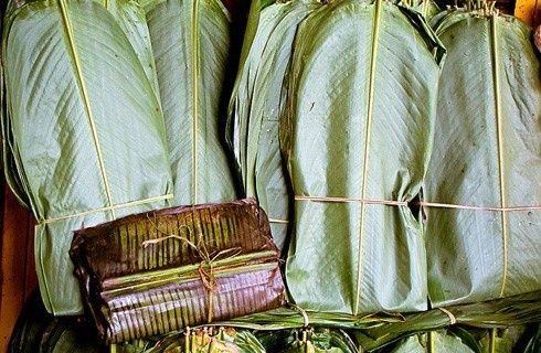 My favorite, banana leaf wrapped tamales