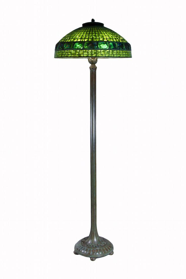 Mermaid floor lamp - Tiffany Studios Belted Turtleback Tile Floor Lamp