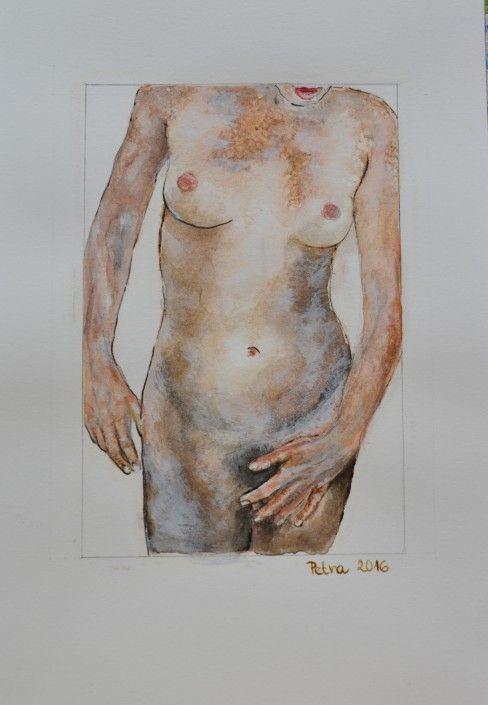 Nahatá – akvarel + tuš, 26×18,2016
