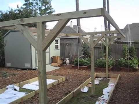 Mittleider Gardening: How To Build T-Frames for Vertical Gardening - YouTube