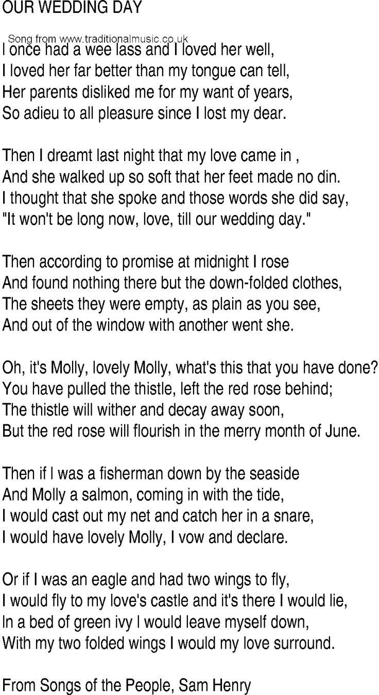 Anúna - Our Wedding Day - Celtic Lyrics Corner