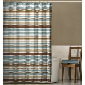 Walmart: Meridian Shower Curtain, Mocha And Blue