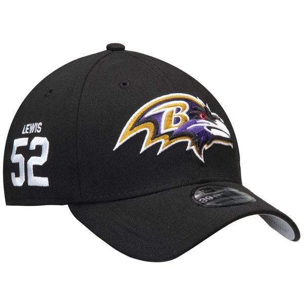 Ray Lewis Baltimore Ravens New Era Super Bowl XXXV Rear Stamp 39THIRTY Flex Hat - Black - $29.99