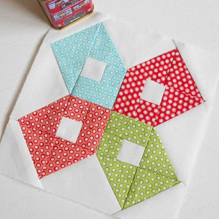 Block 89 - Love from Colorado to the Midwest.  I paper-pieced using page 3 of the pattern (I dislike sewing bias cut half triangles).