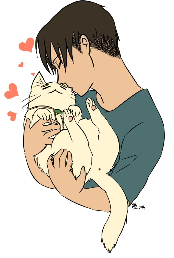 "qianying09: "" Have a transparent catwin levi cuddle fresh from the stream. 8'D """