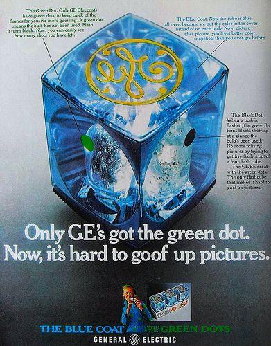 General Electric GE Vintage Flash Cubes 1960s Advertisement 1969 Ad