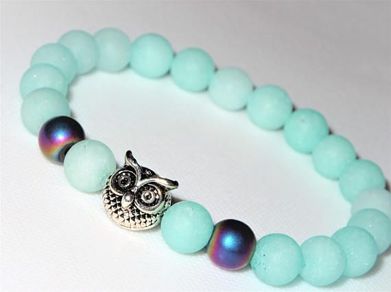 8mm Amazonite Bracelet Amazonite Jewelry Sky Blue Jewelry