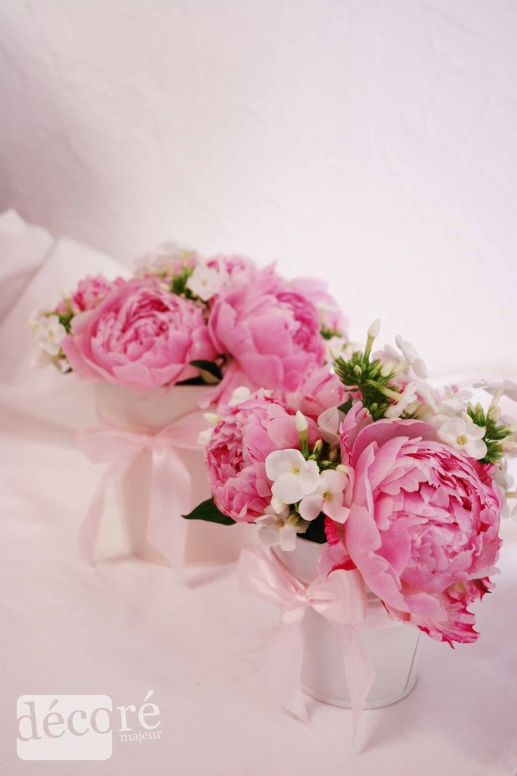 Compositions florales base de pivoines pour un cadeau ou - Bouquet centre de table ...