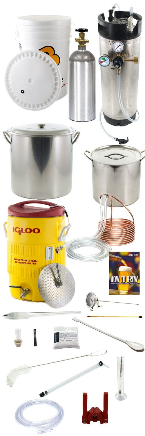 All Grain Home Brewing Beer Equipment Kit - Home Beer Kit w/ keg