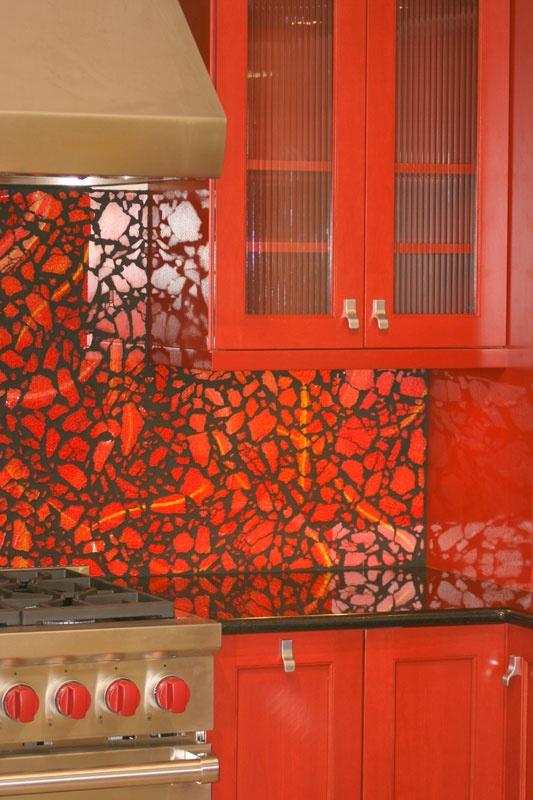 Tempered Glass Kitchen Installation By Zoe Mosaic Designs