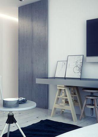Living room design in flat, POLAND - archi group. Pokój dzienny w mieszkaniu.