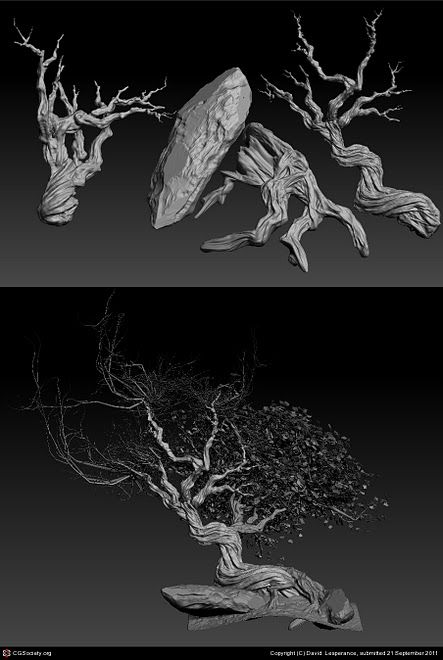 3d game art sculpt