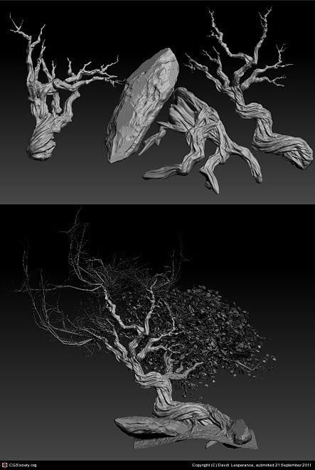 3d game art sculpt