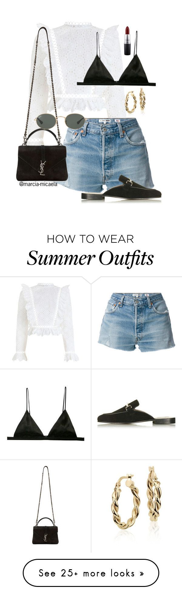 Summer Outfits :  OOTD  by marcia-micaela on Polyvore featuring Zimmermann RE/DONE Yves